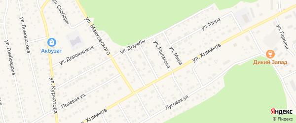 Улица Нагуманова на карте села Толбазы с номерами домов