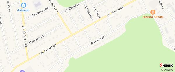 Улица Суворова на карте села Толбазы с номерами домов