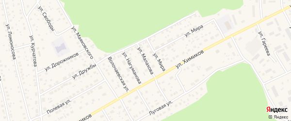 Улица Малахова на карте села Толбазы с номерами домов