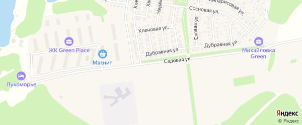 Садовая улица на карте садового некоммерческого товарищества Пищевика-1 с номерами домов