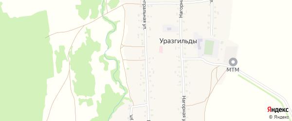 Центральная улица на карте села Уразгильды с номерами домов