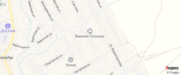Улица Саитова на карте села Верхние Татышлы с номерами домов