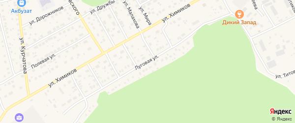 Луговая улица на карте села Толбазы с номерами домов