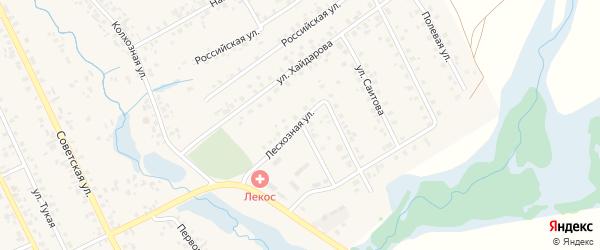 Лесхозная улица на карте села Верхние Татышлы с номерами домов