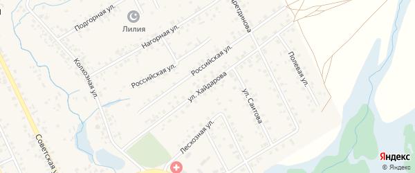 Улица Хайдарова на карте села Верхние Татышлы с номерами домов