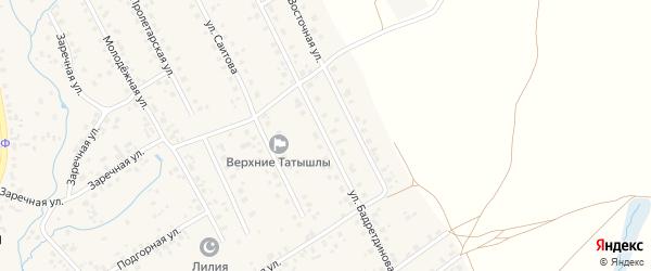 Улица Бадретдинова на карте села Верхние Татышлы с номерами домов