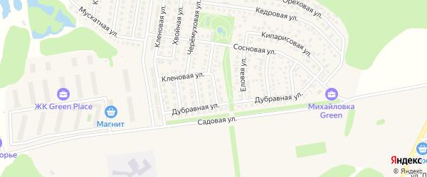 Брусничная улица на карте села Михайловки с номерами домов