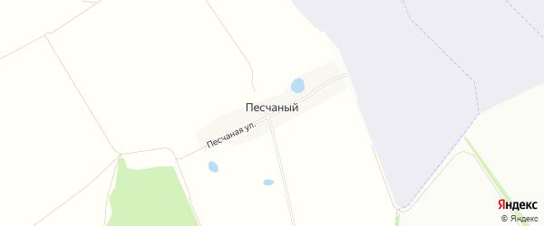 Карта деревни Песчаного в Башкортостане с улицами и номерами домов