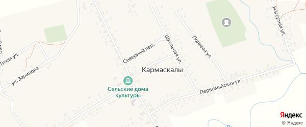 Южный переулок на карте села Кармаскалы с номерами домов