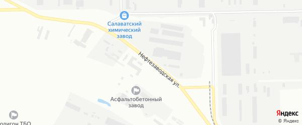 Нефтезаводская улица на карте Салавата с номерами домов