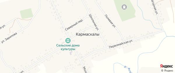 Улица Зарипова на карте села Кармаскалы с номерами домов