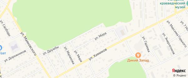 Улица Мира на карте села Толбазы с номерами домов