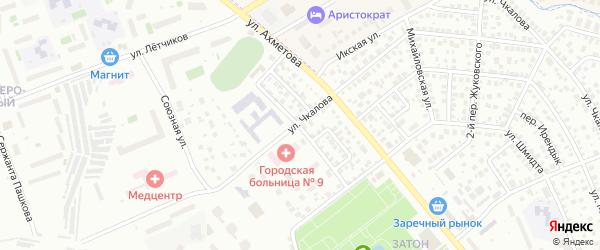 Улица Водников на карте Уфы с номерами домов