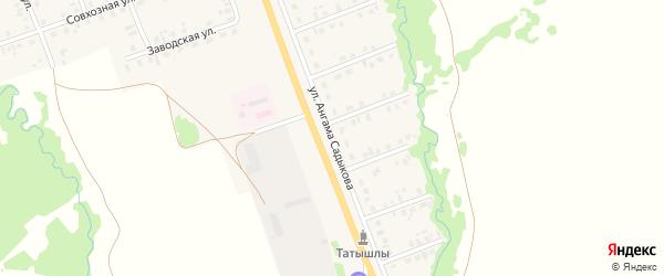 Улица Ангама Садыкова на карте села Верхние Татышлы с номерами домов
