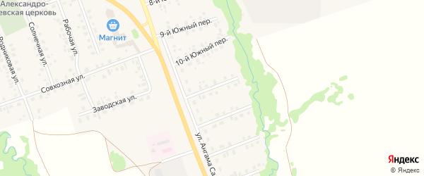 11-й Южный переулок на карте села Верхние Татышлы с номерами домов
