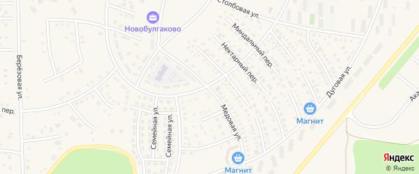 Медовая улица на карте села Булгаково с номерами домов