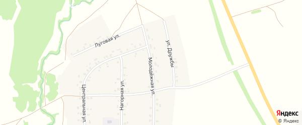 Молодежная улица на карте села Уразгильды с номерами домов