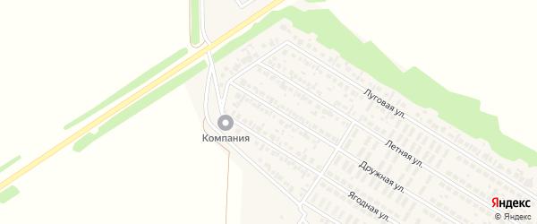 Ягодная улица на карте деревни Байрака с номерами домов
