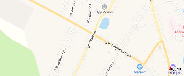 Улица Тукаева на карте села Толбазы с номерами домов
