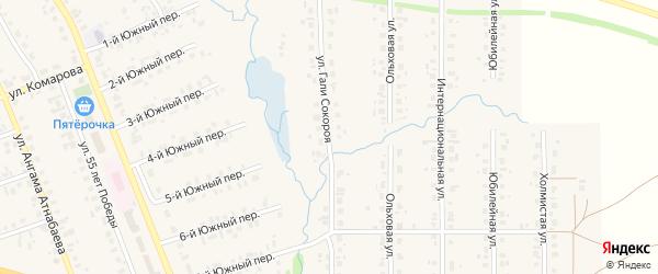 Улица Г.Сокороя на карте села Верхние Татышлы с номерами домов
