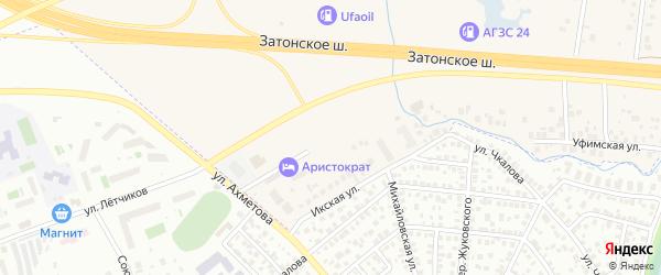 Придорожная улица на карте села Михайловки с номерами домов