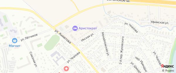 Икская улица на карте Уфы с номерами домов