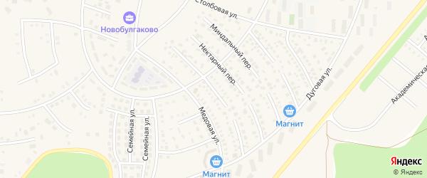 Кофейный переулок на карте села Булгаково с номерами домов