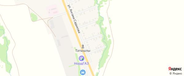 15-й Южный переулок на карте села Верхние Татышлы с номерами домов