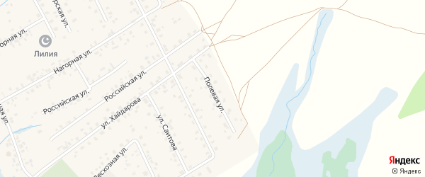 Полевая улица на карте села Верхние Татышлы с номерами домов