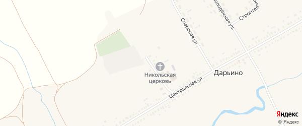 Советская улица на карте села Дарьино с номерами домов