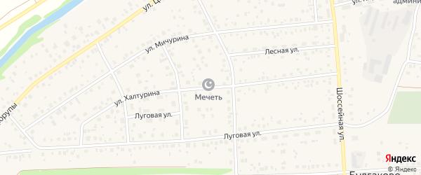 Улица С.Халтурина на карте села Булгаково с номерами домов