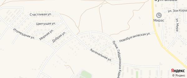 Московский переулок на карте села Булгаково с номерами домов
