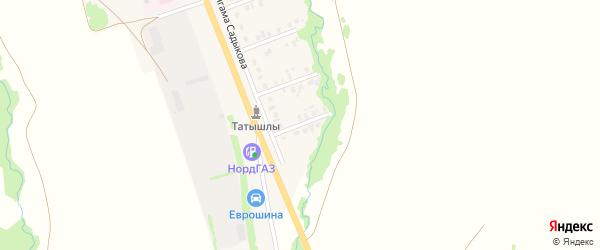 16-й Южный переулок на карте села Верхние Татышлы с номерами домов