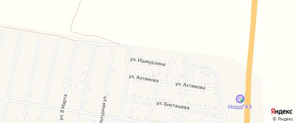 Улица Ишмурзина на карте села Толбазы с номерами домов