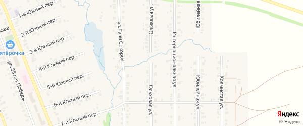 Ольховая улица на карте села Верхние Татышлы с номерами домов