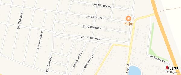 Улица Галикеева на карте села Толбазы с номерами домов