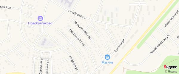 Миндальный переулок на карте села Булгаково с номерами домов