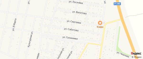 Улица Сабитова на карте села Толбазы с номерами домов
