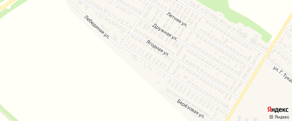 Лебединая улица на карте деревни Байрака с номерами домов