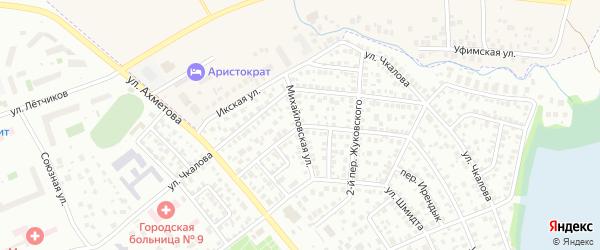 Михайловская улица на карте Уфы с номерами домов