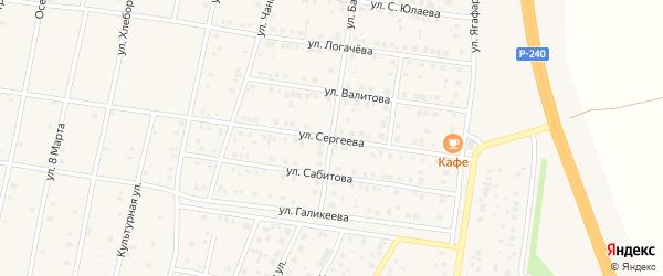 Улица Сергеева на карте села Толбазы с номерами домов