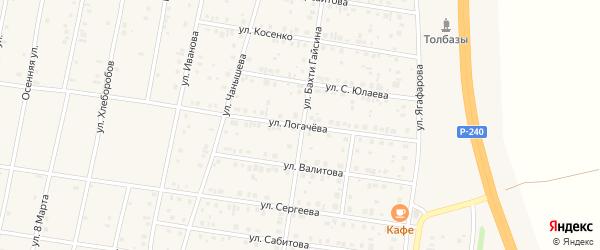 Улица Логачева на карте села Толбазы с номерами домов