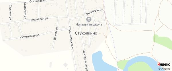 Юбилейная улица на карте деревни Стуколкино с номерами домов