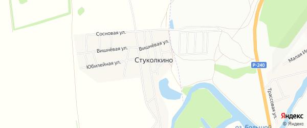 Карта деревни Стуколкино в Башкортостане с улицами и номерами домов