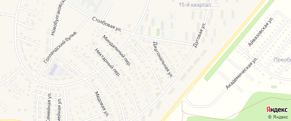 Лимонный переулок на карте села Булгаково с номерами домов