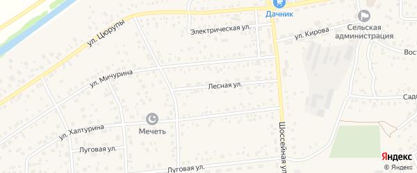 Лесная улица на карте села Булгаково с номерами домов