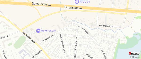Икский переулок на карте Уфы с номерами домов