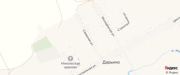 Северная улица на карте села Дарьино с номерами домов