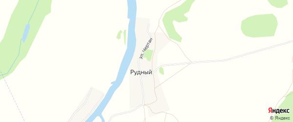 Карта деревни Рудного в Башкортостане с улицами и номерами домов