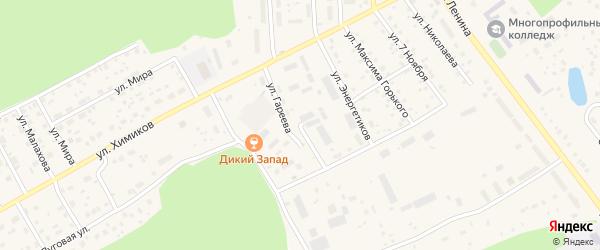 Улица Гареева на карте села Толбазы с номерами домов